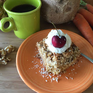 Flourless Tropical Carrot Custard Cake.