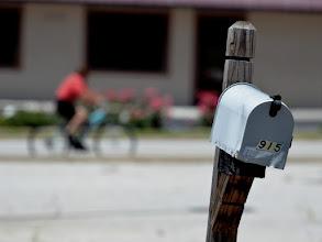 Photo: Cyclist Mailbox. (autofocus can be cruel)