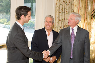 Photo: Israeli Consul General of LA Jacob Dayan, Michael Solomon, Bruce Ramer