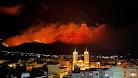 El incendio de Castala es visible desde cualquier punto de Berja y desde otros municipios. Foto de Nacho Sánchez