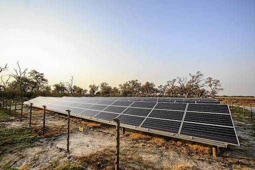 Bright idea: The installation of solar panels and a Tesla Powerpack has made energy generation at andBeyond Xaranna Okavango Delta Camp cleaner and cheaper. Picture: SUPPLIED