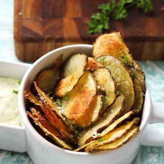 Oven Baked Potato Chips.