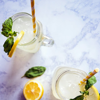 Honey-Sweetened Basil Lemonade