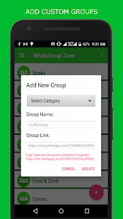 WhatsGroup Zone - náhled