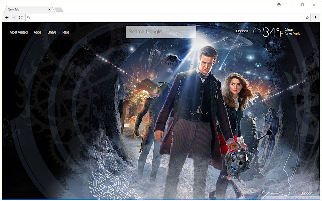 Doctor Who HD Wallpaper New Tab Themes