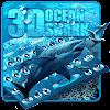 3D المحيط القرش لوحة المفاتيح موضوع APK