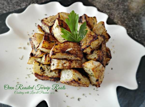 Oven Roasted Turnip Roots Recipe