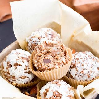 No Bake Gluten Free Almond Joy Energy Bites (Vegan, GF, DF).