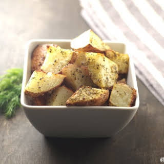Parmesan and Dill Roasted Red Potatoes.