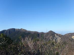 岩場から綿向山方面