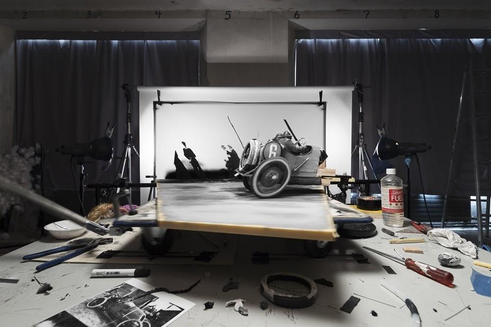 Fotos famosas recriadas em estúdio