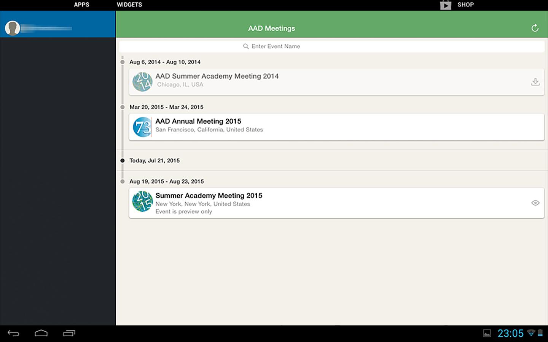 AAD Meeting App- screenshot