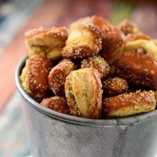 Garlic Parmesan Ranch Pretzels.