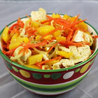 Spiralized Veggies and Tofu Salad