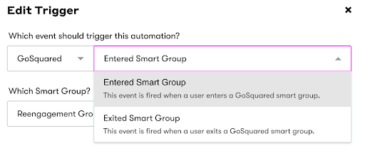 Drip and GoSquared Integration Screenshot