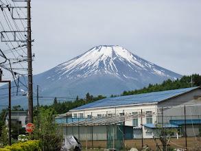 写真: こんなに大きい富士山を見たのは初めてです