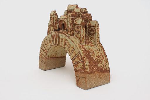 Bryan Newman Small Ceramic Bridge Sculpture 09