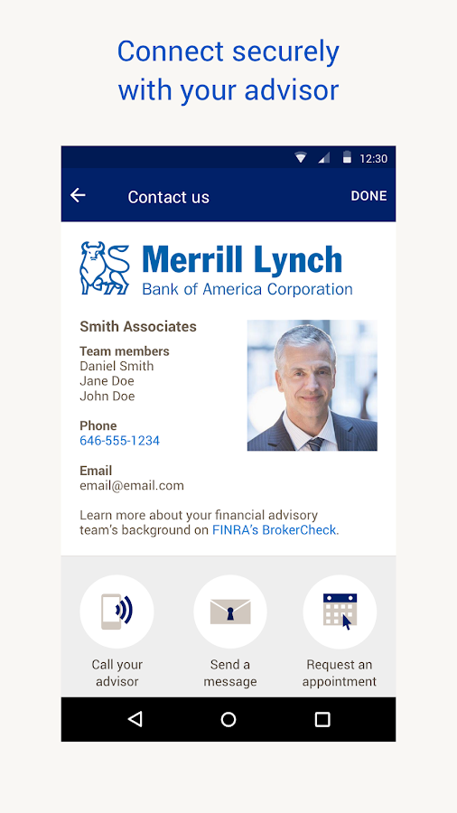 MyMerrill for Android- screenshot