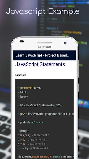 Lernen Sie JavaScript - Projektbasierte Tutorials Punkt-Screenshots 5