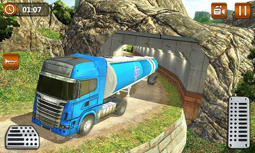 Offroad Oil Tanker Truck Transport Driver screenshots 2