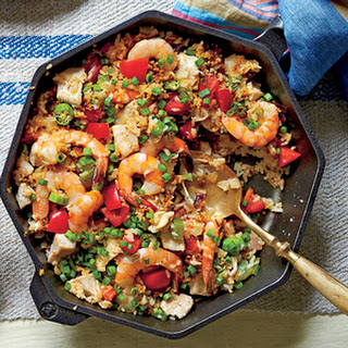 Skillet Rice with Shrimp and Chicken.
