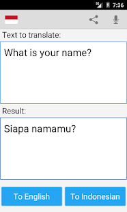 Indonesian English Translator- screenshot thumbnail