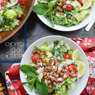 Chopped Salad with Spiced Chickpeas