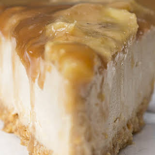 Caramelized Banana Peanut Butter Cheesecake.