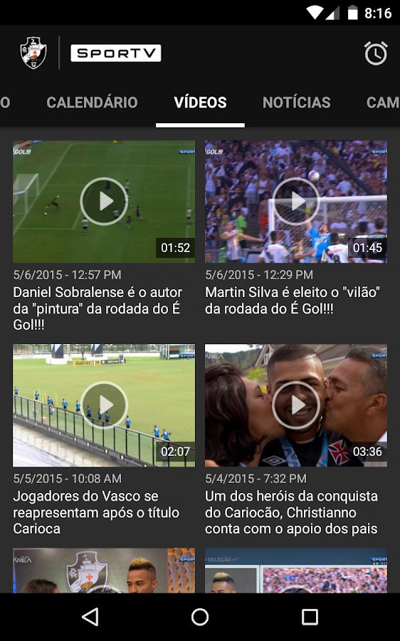 Vasco SporTV- screenshot