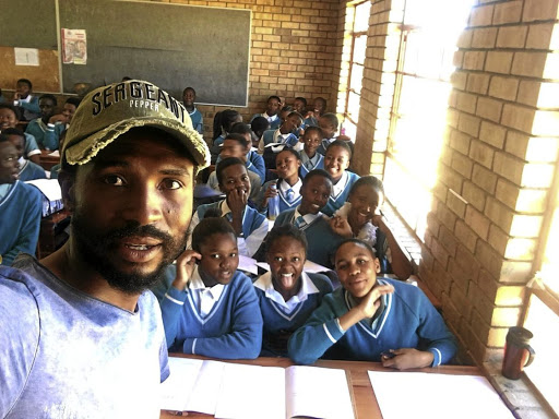 Lucky Baloyi encourages pupils at his old school to do the best with their talents.