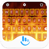 Live 3D Burning Fire Keyboard Theme