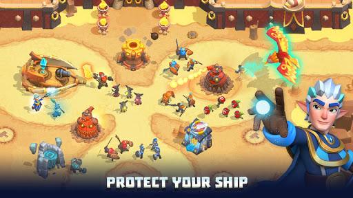 Wild Sky TD: Tower Defense Legends in Sky Kingdom screenshots 20