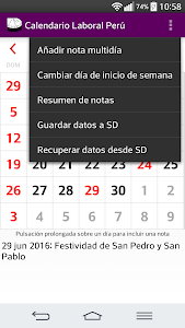 Calendario 2017 Perú AdFree screenshot 4
