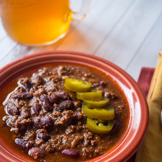 Pressure Cooker Ground Beef and Bean Chili.