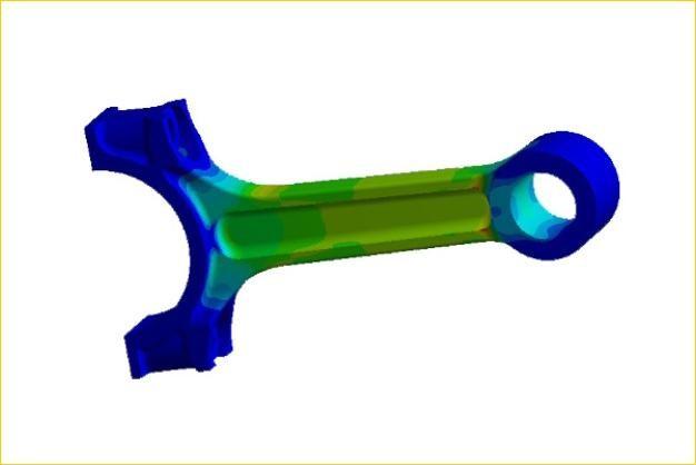 ANSYS - Прочностной расчет шатуна двигателя внутреннего сгорания