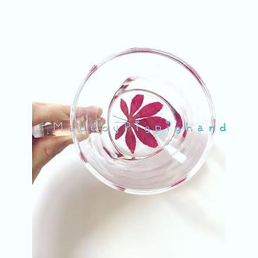 楓葉玻璃水杯