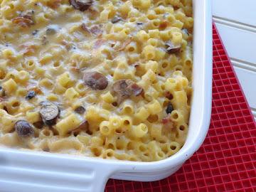 Bacon Mushroom Noodle Casserole Recipe