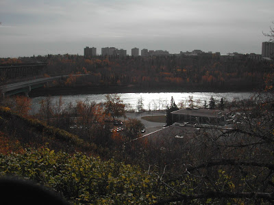 Picture of the Edmonton river looking towards the university