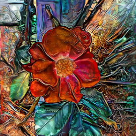 Rose abstract by Cassy 67 - Digital Art Things ( digital, love, harmony, flowers, abstract art, abstract, deepdream, flower, digital art, classic, modern, trendy, light, rose, energy )