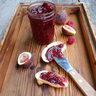 (Small Batch) Bourbon Raspberry Fig Jam.