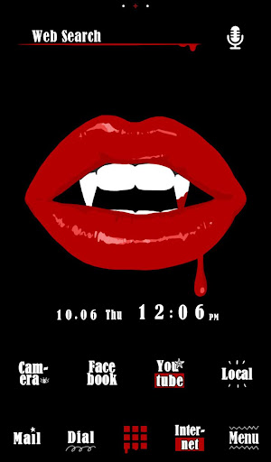 Vampire Lips Free Theme Screenshot