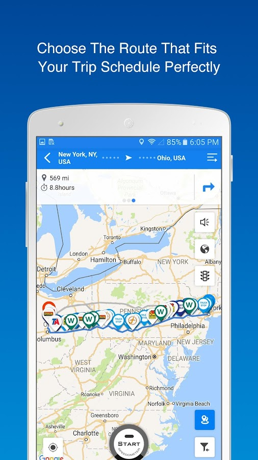 Find Truck Loads, Stops, Weigh Stations & GPS- screenshot