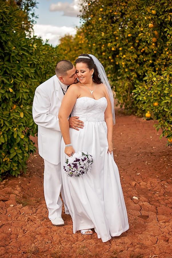 Angel and Mary Wedding Portrait by Elizabeth Loera - Wedding Bride & Groom ( ranch, park, sahuaro, wedding, arizona, glendale, photography, portrait )