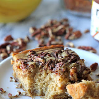 Banana, Pecan and Nutella Swirled Snack Cake.
