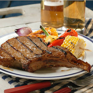 Beer-Grilled Chops.