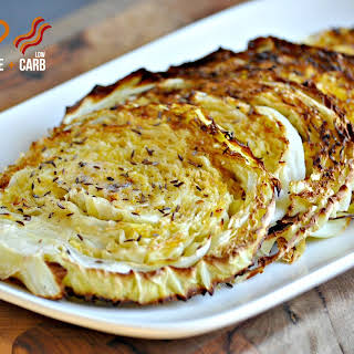 Oven Roasted Cabbage Wedges.