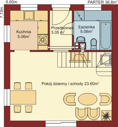 Domek Matuszny - Rzut parteru
