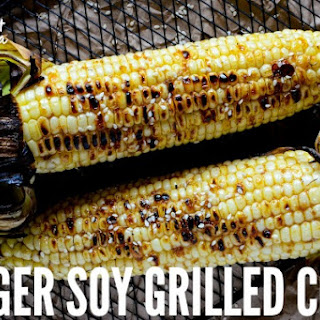 Ginger Soy Grilled Corn.