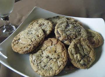 Salted Mocha Chocolate Chip Cookies