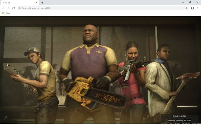 Left 4 Dead 2 New Tab & Wallpapers Collection